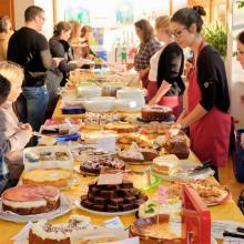 Beliebt und lecker - das große Kuchenbuffet
